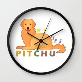 Pitchu - My Life Classic T-Shirt T-Shirt Wall Clock