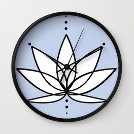 Imperfect Lotus with Background Wall Clock