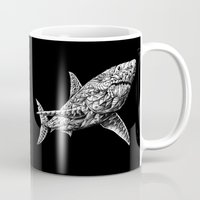 bioworkz Mugs featuring Great White by BIOWORKZ