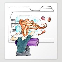 Washing Hair Art Print