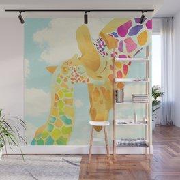 Shanti Sparrow: Harriet & Henry the Giraffes Wall Mural