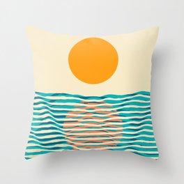 Ocean current Throw Pillow