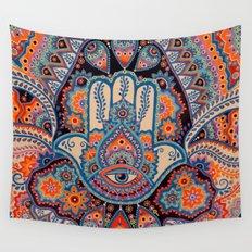 Hamsa Hand Wall Tapestry