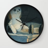 doll Wall Clocks featuring Doll by Heather Short