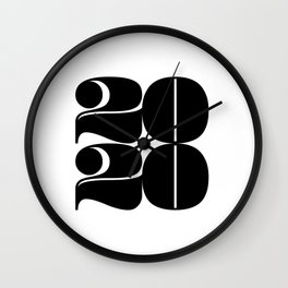 2020 Year   Typography   Square Wall Clock