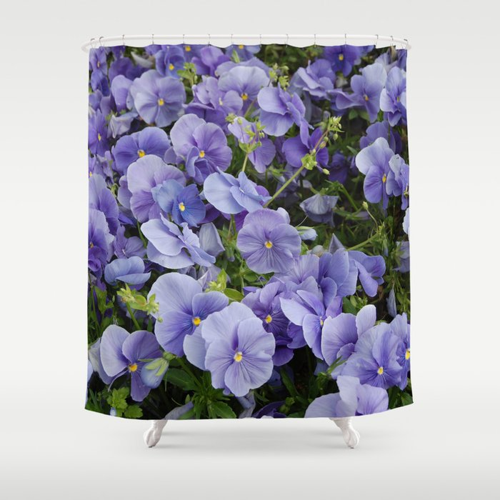 Pansy Flower Shower Curtain