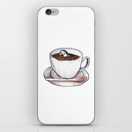 Caffeine addict tea and coffee cup illustration iPhone Skin