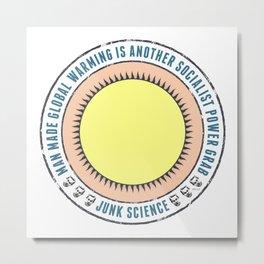 Junk Science Power Grab Metal Print