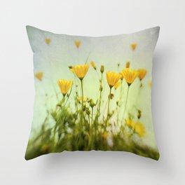Daisies Up Throw Pillow