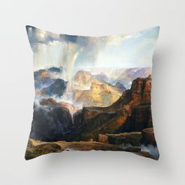 The Chasm Of The Colorado 1874 By Thomas Moran | Scenic Earthy Reproduction Throw Pillow