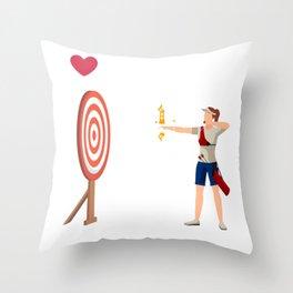 Bogenschießen Jäger Bogenschütze Pfeil Bogensport Throw Pillow