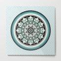 Mandala Design Sea Blue Aqua Theme by nmartworks