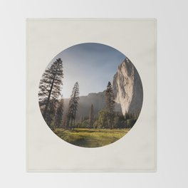 Yosemite National Park Throw Blanket