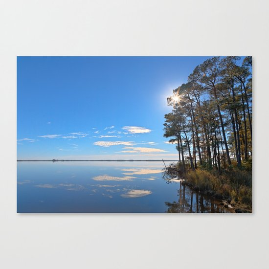 Blackwater Sunburst Marsh Canvas Print