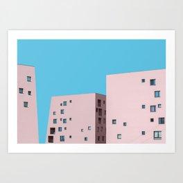 Millennial Pink City Art Print