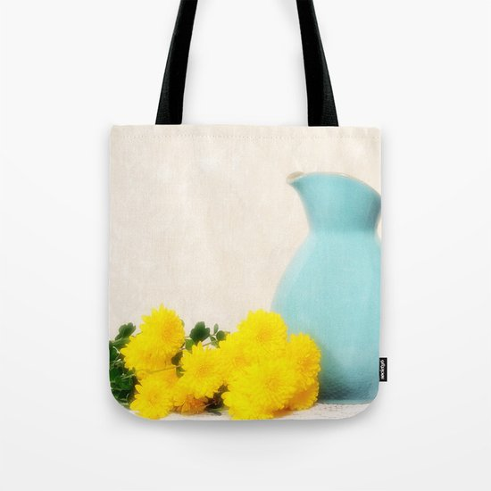 The Yellow Mums Tote Bag