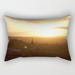 Salisbury Crags overlooking Edinburgh at sunset 3 Rectangular Pillow