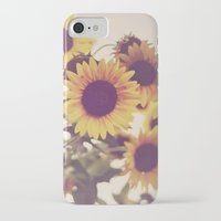 sunflowers iPhone & iPod Cases featuring Sunflowers by elle moss