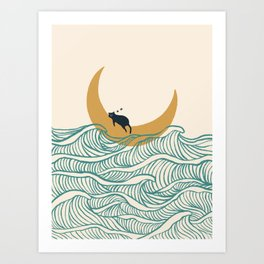 Good Night Meow 1 Art Print
