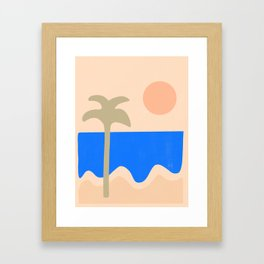 abstract paradise 4 Framed Art Print