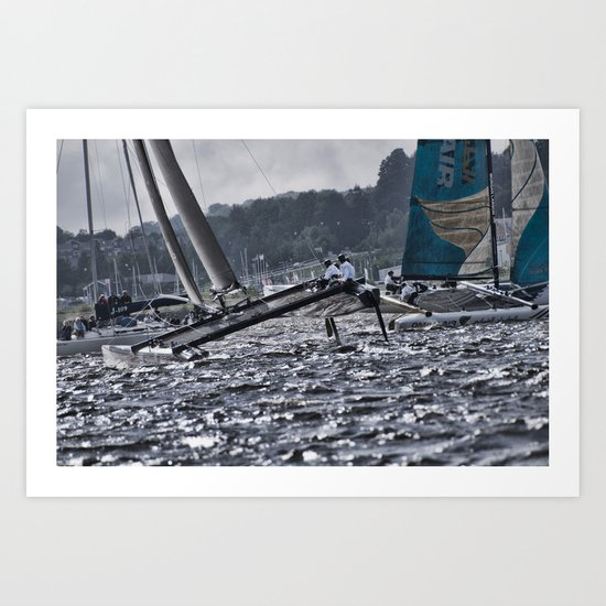 Extreme 40 Catamaran Racing Art Print
