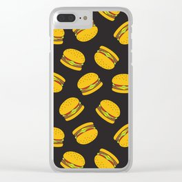 Burger Pattern  Everett co Clear iPhone Case