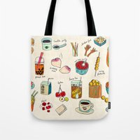 hong kong Tote Bags featuring locals only - hong kong by Joanne Liu