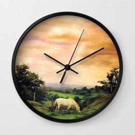 Farmland in Cumbria Wall Clock