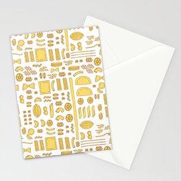 Pasta, a pattern. Stationery Cards