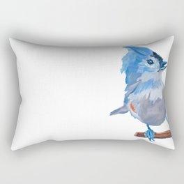 Little Blue Birdie Rectangular Pillow
