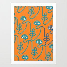 Multi Faced Tangerine Art Print