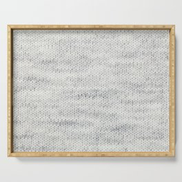 Gray Wool Serving Tray