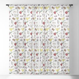 Beauty and the Beast Sheer Curtain