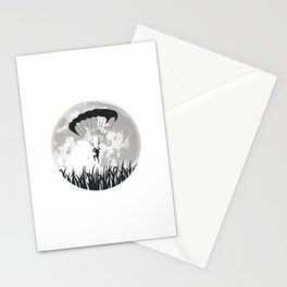 Paragliding Full Moon Stationery Cards
