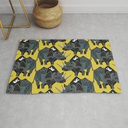 rhinoceros yellow Rug