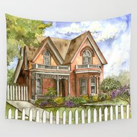 victorian Wall Tapestries featuring Victorian Beauty by Shelley Ylst Art