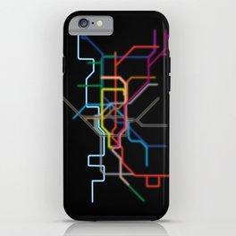 London: Neon Underground iPhone Case