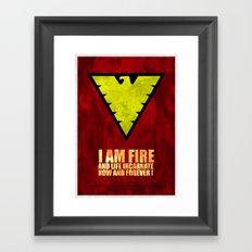 X-Men: Dark Phoenix - I am fire and life incarnate Framed Art Print
