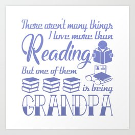 Reading Grandpa Art Print