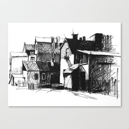 ARCHITECTURE PEN & INK DRAWING Canvas Print