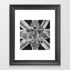 Diamond City Black and white Framed Art Print