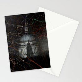 St Paul's Cathedral behind colours Stationery Cards