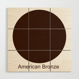 American Bronze Wood Wall Art