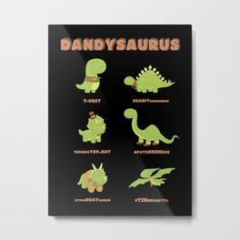 DANDYSAURUS - Dark Version Metal Print