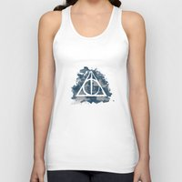 ravenclaw Tank Tops featuring The Deathly Hallows (Ravenclaw) by FictionTea