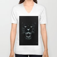beast V-neck T-shirts featuring Beast by Giuseppe Cristiano