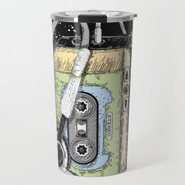 portable cassette player with headphone Travel Mug