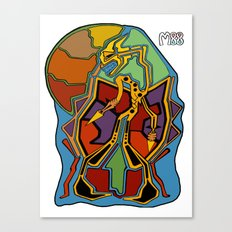 Stuck In Colour Canvas Print