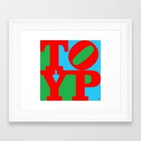 typo Framed Art Prints featuring TYPO by cû3ik designs