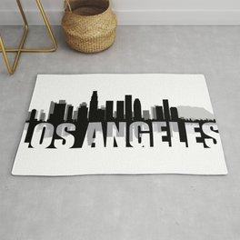 Los Angeles Silhouette Skyline Rug